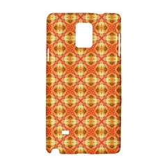 Peach Pineapple Abstract Circles Arches Samsung Galaxy Note 4 Hardshell Case by DianeClancy
