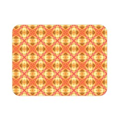 Peach Pineapple Abstract Circles Arches Double Sided Flano Blanket (mini)  by DianeClancy