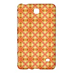 Peach Pineapple Abstract Circles Arches Samsung Galaxy Tab 4 (7 ) Hardshell Case  by DianeClancy