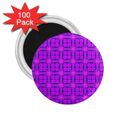 Abstract Dancing Diamonds Purple Violet 2 25  Magnets (100 Pack)  by DianeClancy