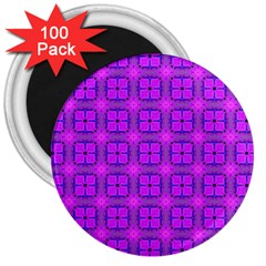Abstract Dancing Diamonds Purple Violet 3  Magnets (100 Pack) by DianeClancy