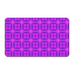 Abstract Dancing Diamonds Purple Violet Magnet (rectangular) by DianeClancy