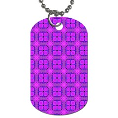 Abstract Dancing Diamonds Purple Violet Dog Tag (one Side) by DianeClancy