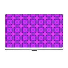 Abstract Dancing Diamonds Purple Violet Business Card Holders by DianeClancy