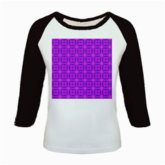 Abstract Dancing Diamonds Purple Violet Kids Baseball Jerseys by DianeClancy