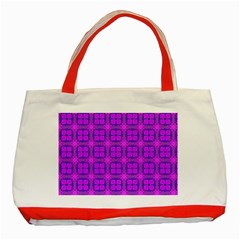 Abstract Dancing Diamonds Purple Violet Classic Tote Bag (red) by DianeClancy
