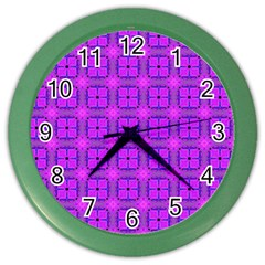 Abstract Dancing Diamonds Purple Violet Color Wall Clocks by DianeClancy