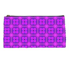 Abstract Dancing Diamonds Purple Violet Pencil Cases by DianeClancy