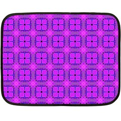 Abstract Dancing Diamonds Purple Violet Double Sided Fleece Blanket (mini)  by DianeClancy