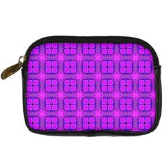 Abstract Dancing Diamonds Purple Violet Digital Camera Cases by DianeClancy