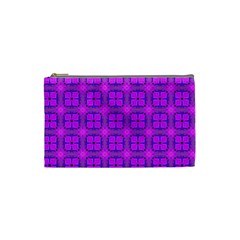 Abstract Dancing Diamonds Purple Violet Cosmetic Bag (small)  by DianeClancy