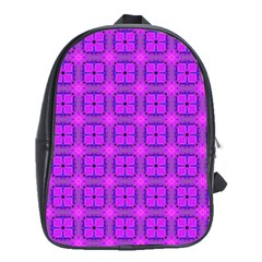 Abstract Dancing Diamonds Purple Violet School Bags(large)  by DianeClancy