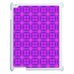 Abstract Dancing Diamonds Purple Violet Apple Ipad 2 Case (white) by DianeClancy