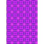 Abstract Dancing Diamonds Purple Violet Ribbon 3D Greeting Card (7x5)  Inside