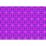 Abstract Dancing Diamonds Purple Violet Ribbon 3D Greeting Card (7x5)  Back