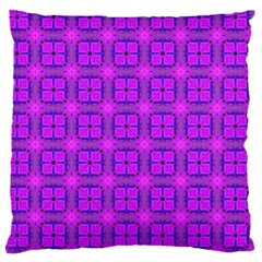 Abstract Dancing Diamonds Purple Violet Large Cushion Case (one Side) by DianeClancy