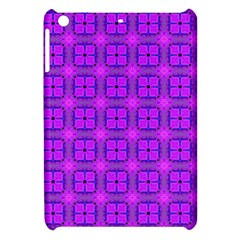 Abstract Dancing Diamonds Purple Violet Apple Ipad Mini Hardshell Case by DianeClancy
