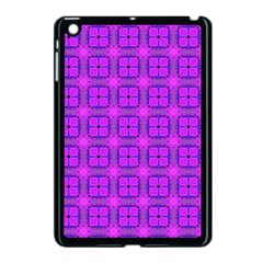 Abstract Dancing Diamonds Purple Violet Apple Ipad Mini Case (black) by DianeClancy