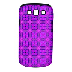 Abstract Dancing Diamonds Purple Violet Samsung Galaxy S Iii Classic Hardshell Case (pc+silicone) by DianeClancy