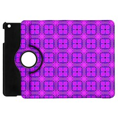 Abstract Dancing Diamonds Purple Violet Apple Ipad Mini Flip 360 Case by DianeClancy