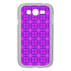 Abstract Dancing Diamonds Purple Violet Samsung Galaxy Grand Duos I9082 Case (white) by DianeClancy