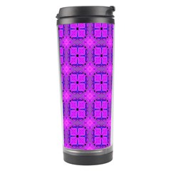 Abstract Dancing Diamonds Purple Violet Travel Tumblers by DianeClancy