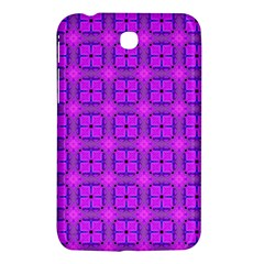 Abstract Dancing Diamonds Purple Violet Samsung Galaxy Tab 3 (7 ) P3200 Hardshell Case  by DianeClancy