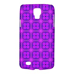 Abstract Dancing Diamonds Purple Violet Galaxy S4 Active by DianeClancy