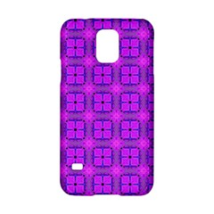 Abstract Dancing Diamonds Purple Violet Samsung Galaxy S5 Hardshell Case  by DianeClancy