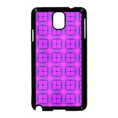 Abstract Dancing Diamonds Purple Violet Samsung Galaxy Note 3 Neo Hardshell Case (black) by DianeClancy
