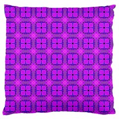 Abstract Dancing Diamonds Purple Violet Large Flano Cushion Case (two Sides) by DianeClancy