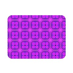 Abstract Dancing Diamonds Purple Violet Double Sided Flano Blanket (mini)  by DianeClancy
