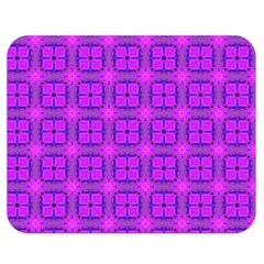 Abstract Dancing Diamonds Purple Violet Double Sided Flano Blanket (medium)  by DianeClancy