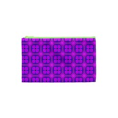 Abstract Dancing Diamonds Purple Violet Cosmetic Bag (xs) by DianeClancy