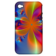 Bright Apple Iphone 4/4s Hardshell Case (pc+silicone) by Delasel