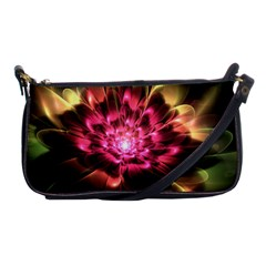 Red Peony Shoulder Clutch Bags by Delasel