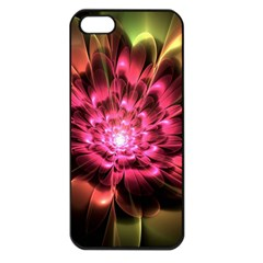 Red Peony Apple Iphone 5 Seamless Case (black) by Delasel