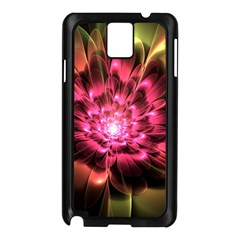 Red Peony Samsung Galaxy Note 3 N9005 Case (black) by Delasel