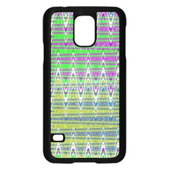 Colorful Zigzag Pattern Samsung Galaxy S5 Case (black) by BrightVibesDesign