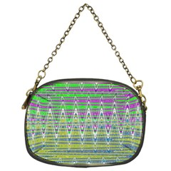 Colorful Zigzag Pattern Chain Purses (one Side)  by BrightVibesDesign