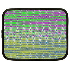 Colorful Zigzag Pattern Netbook Case (xxl)  by BrightVibesDesign