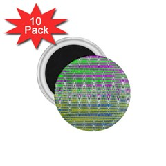 Colorful Zigzag Pattern 1 75  Magnets (10 Pack)  by BrightVibesDesign