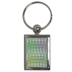 Colorful Zigzag Pattern Key Chains (rectangle)  by BrightVibesDesign