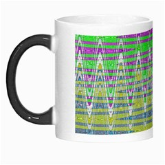 Colorful Zigzag Pattern Morph Mugs by BrightVibesDesign