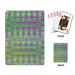 Colorful Zigzag Pattern Playing Card by BrightVibesDesign