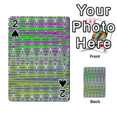 Colorful Zigzag Pattern Playing Cards 54 Designs