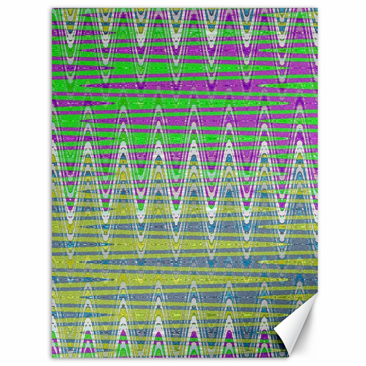 Colorful Zigzag Pattern Canvas 36  x 48