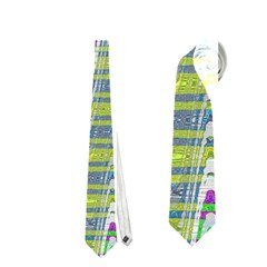Colorful Zigzag Pattern Neckties (two Side)  by BrightVibesDesign