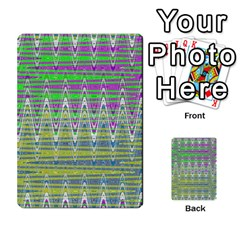 Colorful Zigzag Pattern Multi Purpose Cards (rectangle)  by BrightVibesDesign