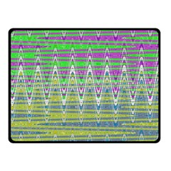 Colorful Zigzag Pattern Fleece Blanket (small) by BrightVibesDesign